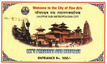Билет в исторический центр Лалитпура